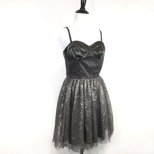 ASOS Silver Bustier Sequins Party Dress